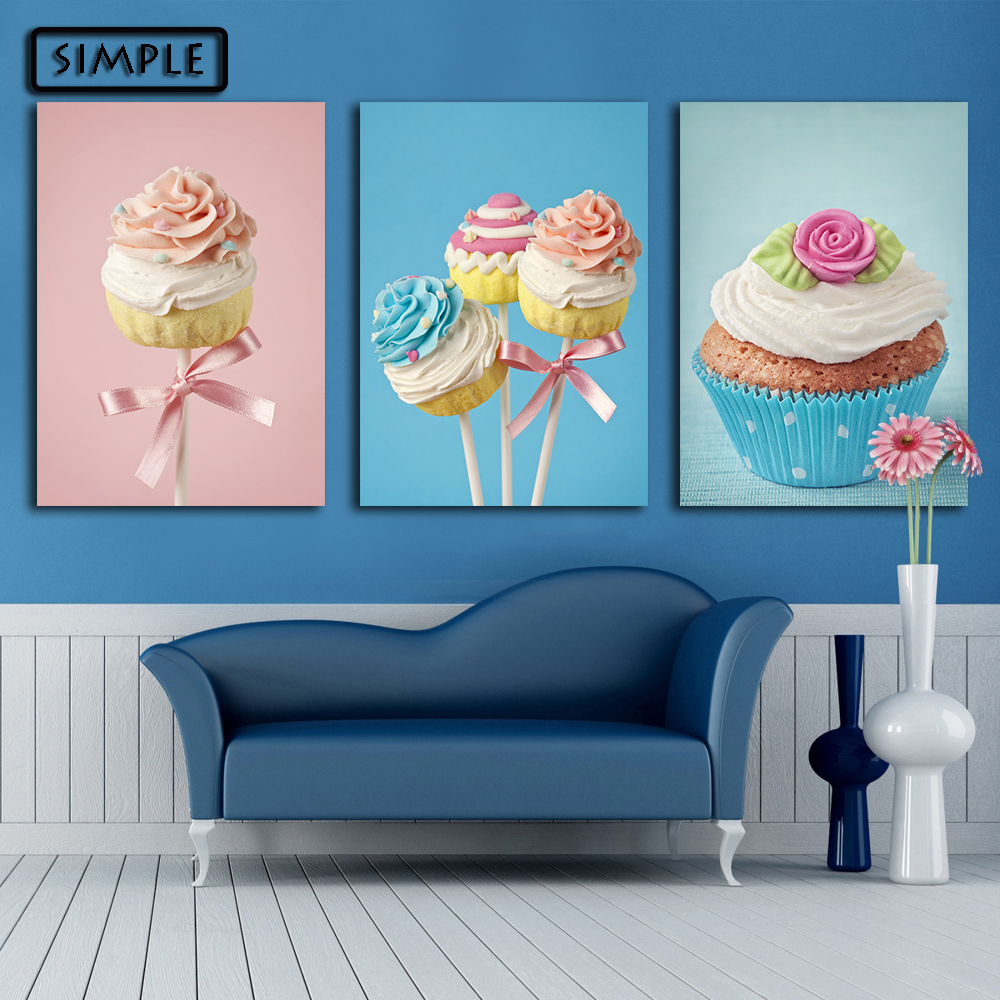 Oil painting canvas sweets cake wall art decoration for Art cake decoration