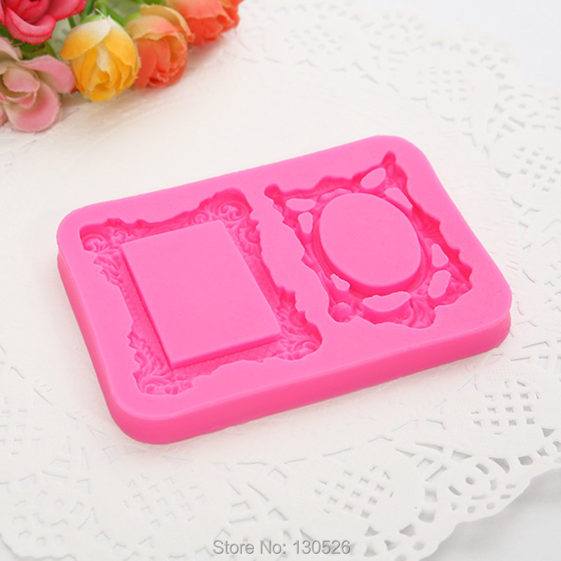 Mirror Frame Silicone Fondant Mould Cake Decorating ...