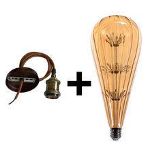 Алюминиевая Подвесная лампа + E27 цуккини, лампа звездного неба, 90-260 В, винтажный светильник в подарок для дома/гостиной/спальни, декоративный...(China)