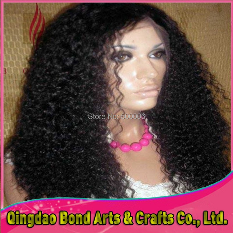 Short to Long afro kinky curly jet Black brazilian lace front wigs For Black Women With Bleached Knots(8-26inch) free DHL<br><br>Aliexpress