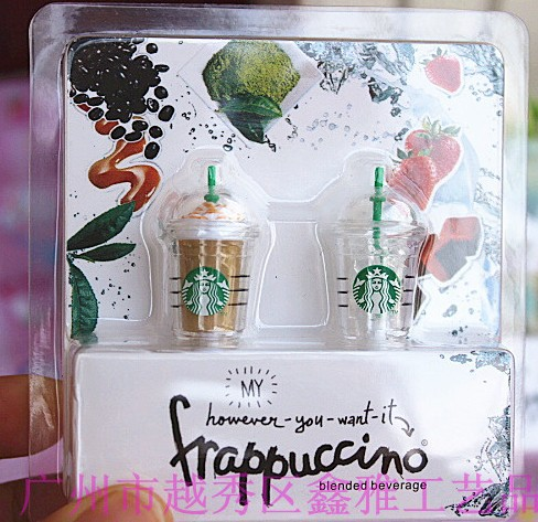 (In one box),Original Starbucks shaped earphone jack dust cap plug iPhone 4 4S 5 retail packaging, - Shenzhen DYD Technology Co., Ltd. store