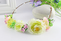 Summer Wedding Floral Crown Head Band Floral Head Wreath Women Flower Headband Bridesmaid Bridal Headpiece Girls Flower Crown