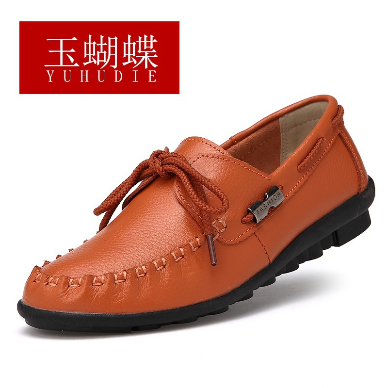 Women Loafers Fashion Genuine Leather Flats Shoes Woman Moccasins Soft Sole Slip On Casual Driving Shoes Zapatos Mujer Plus Size