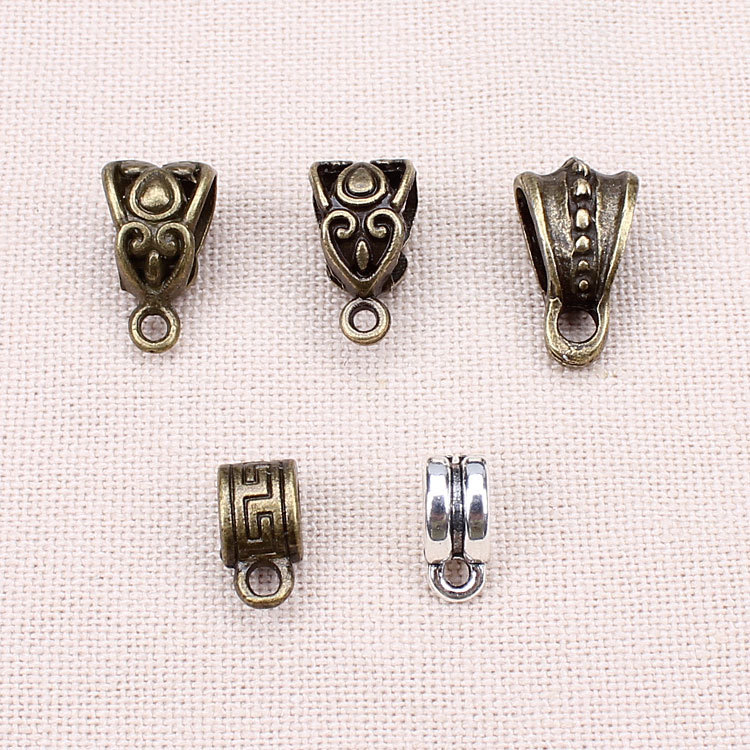 20pcs/lot Zinc Alloy Antique Silver/Bronze Necklace Pendant Carrier Connector  DIY Jewelry Findings <br><br>Aliexpress