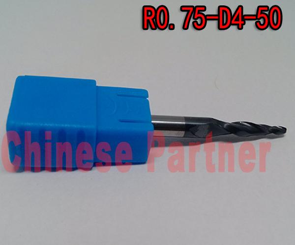 Фрезы Chinese Partner r0.75 1 * D4 * 15 * 50 L * 2F HRC55 CP-R0.75*D4*15*50-HRC55