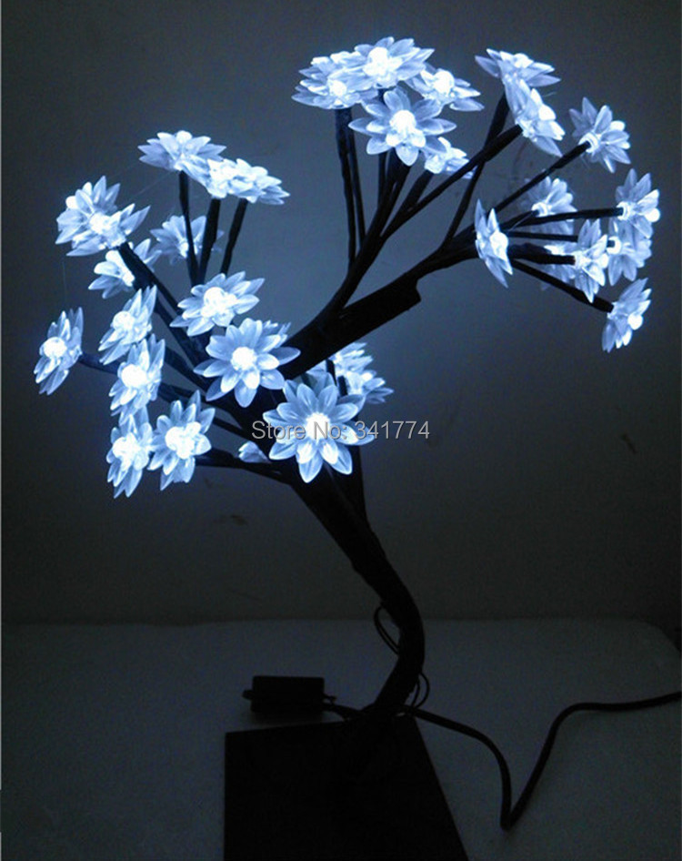 Mini LED cherry lotus tree Night lights tree branches lamps indoor lighting Christmas new year wedding Luminaria home decoration(China (Mainland))