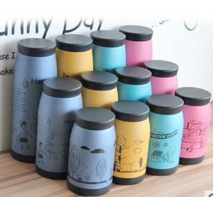 450ml Thermos Mug Insulated Tumbler Travel Cups Stainless Steel Thermo Vacuum Cup Office Lovely Animal Pattern  -  kauilexiaodian store