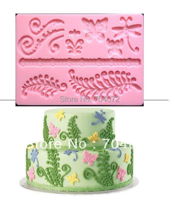 """2015 Real Cake Tools Transport Tools free Shipping New Arrival Molds Nature """"fern"""" Fondant And Gum Paste Mold Cake Decoration"""