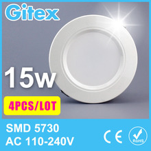 Ultra thin led down light 3w 5w 6w 7w 9w 12w 15w 18w led ceiling led lamp led downlight round panel light Home Indoor Lighting