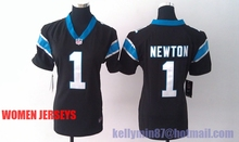 100% Stitiched,Carolina Panthers,Cam Newton,Luke Kuechly,Greg Olsen for women(China (Mainland))