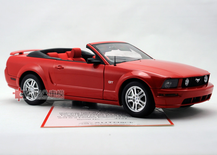 Aotuo aa FORD ford mustang convertible gt alloy car model red