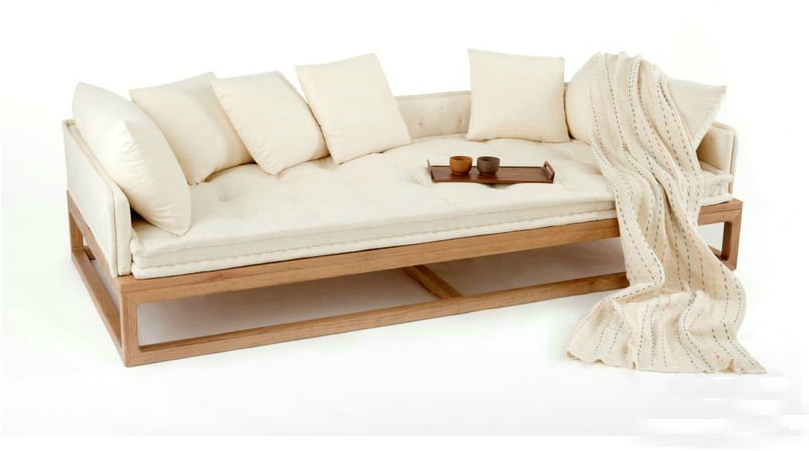 New Oriental Zen Zen Rohan couch bed old elm Chinese trio sofa couch sofa design models