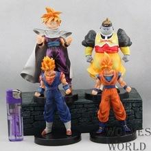 Free Shipping Anime Dragon ball z PVC Action Figures Goku Figure Toy Christmas gift 4pcs/set ADB046