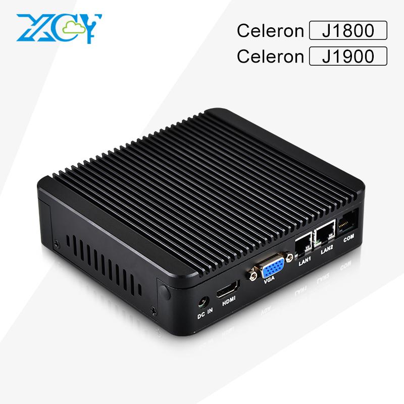 Wholesale MINI PC computer celeron J800 Dual core /J1900 Quad core fanless thin client htpc dual lan with vga hdmi(China (Mainland))