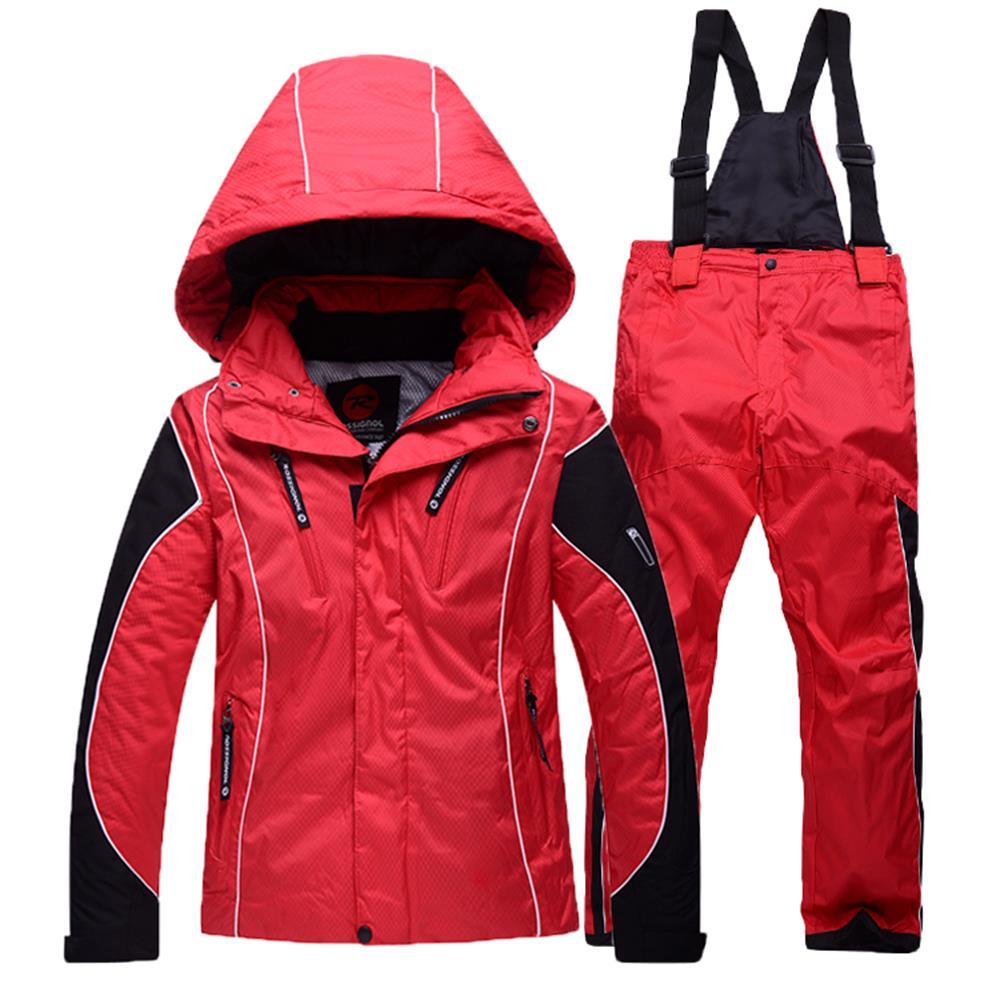 ROSSIGNOL kid skiing jacket + pants sets boy girl thicken waterproof snow jackets children ski suit winter child skiing clothing(China (Mainland))