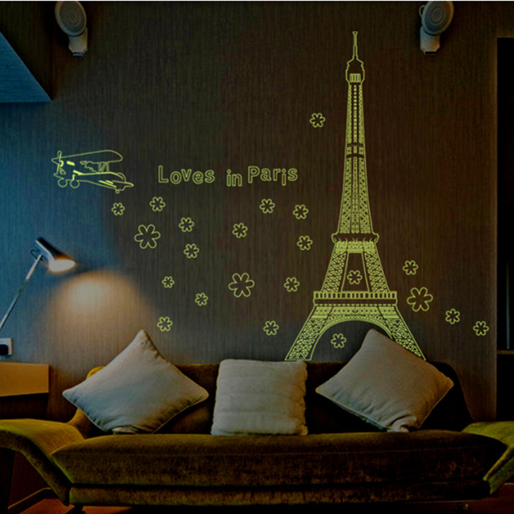 Famous letter love in paris night eiffel tower decoration for Living room 6 letters