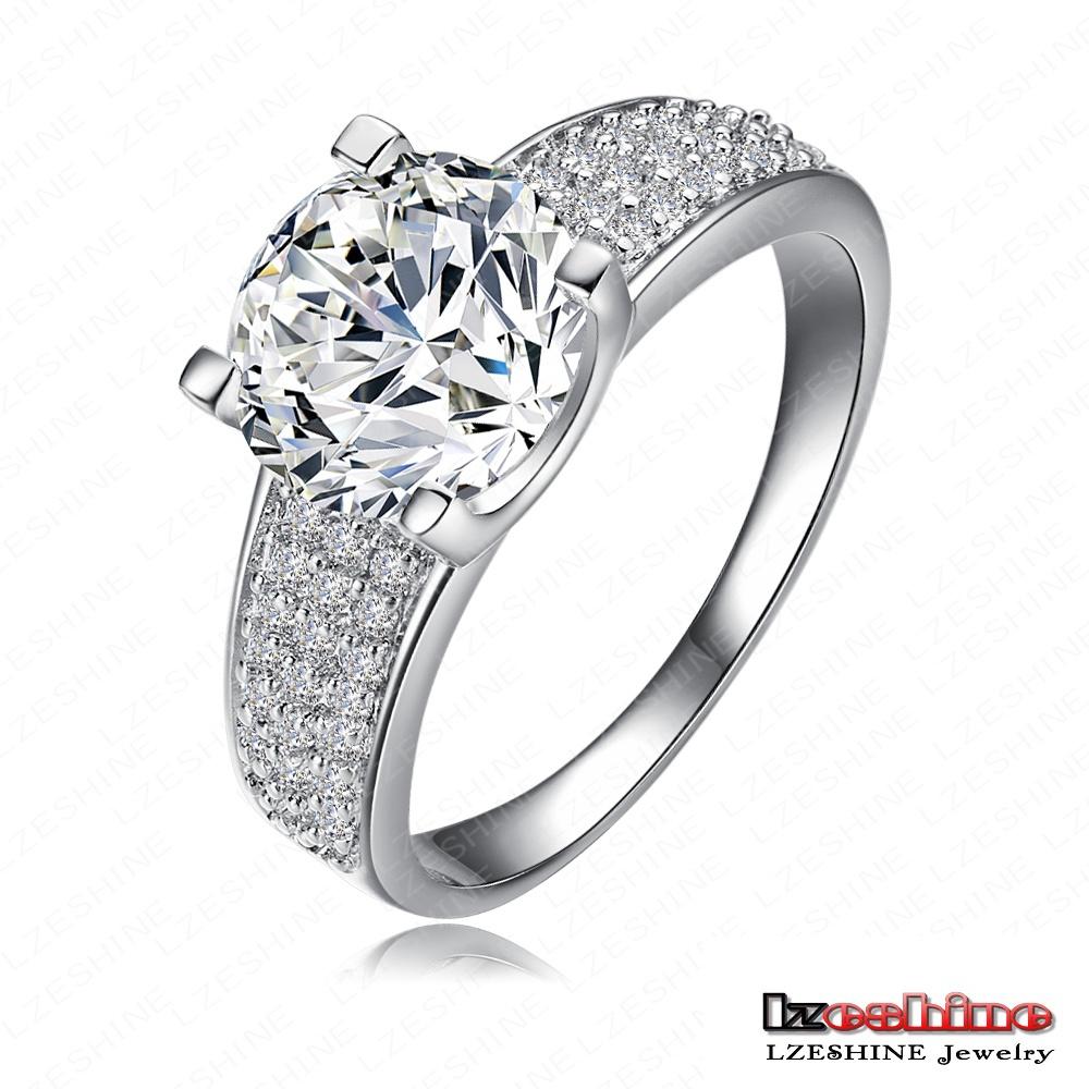 Wholesale New Unisex Couple Rings 18K Gold/Platinum Plated AAA Cubic Zircon Fashion Jewelry Anillos joyas de oro 18k CRI0010(China (Mainland))