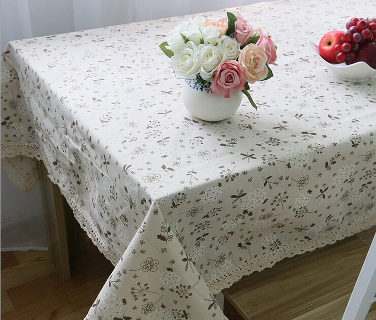60x60cm Japanese Style Dandelion Round Table Cloth White Lace Table Cover Cheap Tablecloths Tischdecke(China (Mainland))