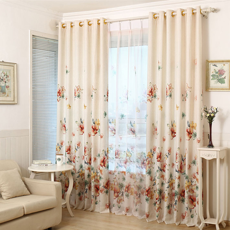 2016 printed shade window blackout curtain fabric modern for Living room curtain fabric