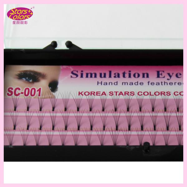 2016 new Makeup fake Eyelashes 0 10mm C Curl silk eyelash font b extensions b font