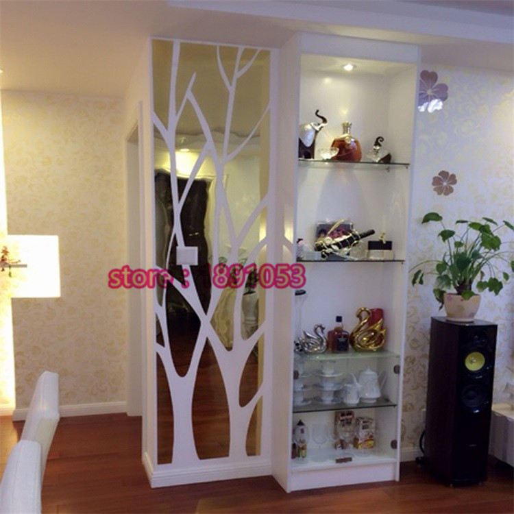 3d large tree pattern mirror wall stickers fashion home for Stickers muraux couloir