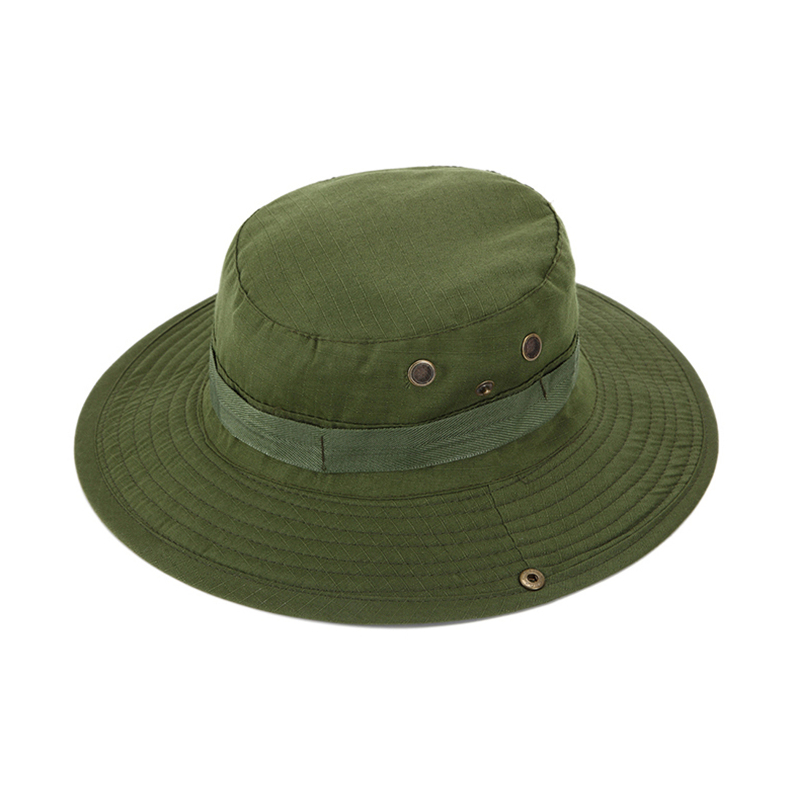 Outdoor fishing activities military bucket cap camping for Wide brim fishing hat