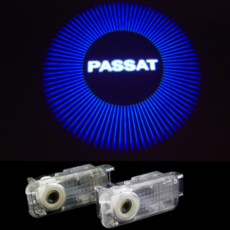 No Drilling LED Projector Badge Ghost Shadow Light Vehicle/Auto/Car Door LED Logo Light For Volkswagen vw passat b5 2000-2010(China (Mainland))