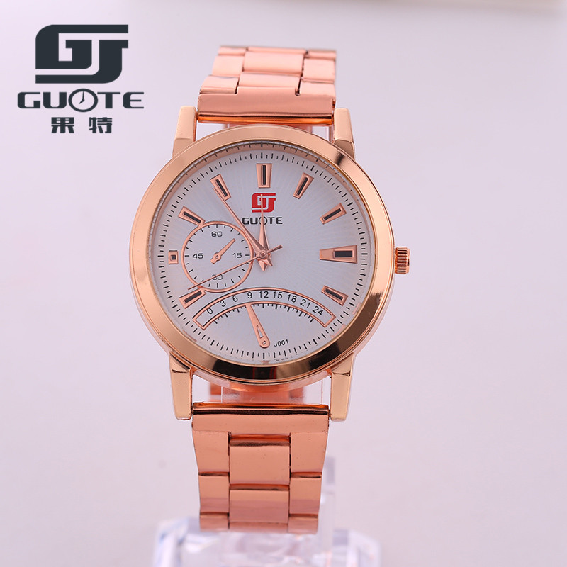 2016 High Quality Rose Gold Watch Men Boy Luxury Brand hot Guote Men and Women Watches Gift to Men's All Stainless Steel Watches(China (Mainland))