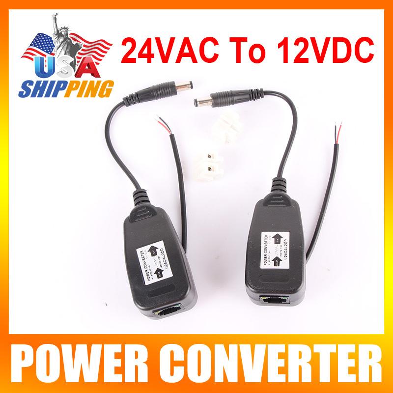 US Stock To USA 24V AC To 12V DC Converter CCTV Security Camera Power Supply Converter(China (Mainland))