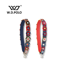 W.D.POLO Strap you flower handbag belts strap bag belt gift bag accessory bag parts genuine leather Fashion icon bag belts P1684(China (Mainland))