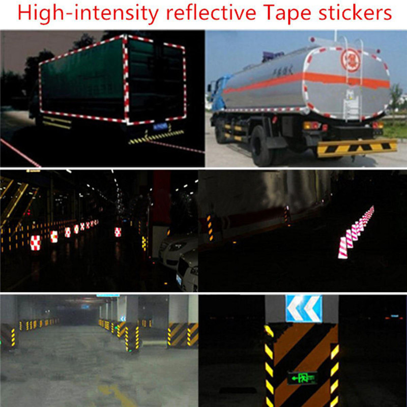 Waterproof 5 cm x 3mOutdoor Safety Caution Reflective Tape Warning Tape Sticker Self Adhesive Tape Yellow Free Shipping