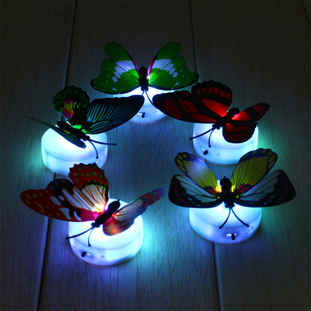 1pcs Flashing Colorful Butterfly Night Light