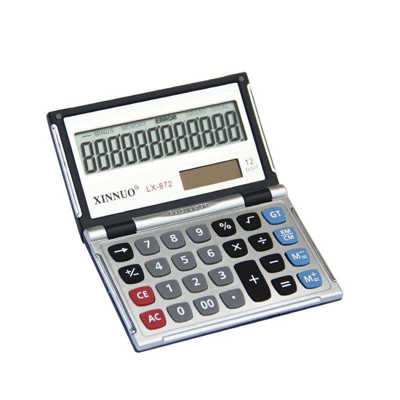 Small Business LX872 mini calculator 12 digits Solar Pocket Money portable computer(China (Mainland))