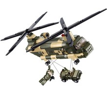 513PCS/set Military toy fighter Modern warfare CH-47 Chinook transport helicopter blocks bricks boy toy compatible with lego