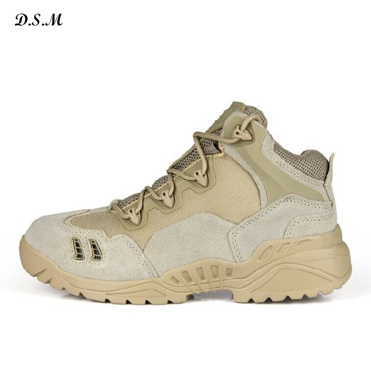 Delta Brand Military Tactical Genuine Leather Men Ankle Boots Male Desert Combat Outdoor Shoes Army Hiking Travel Botas - Teamplus Store store