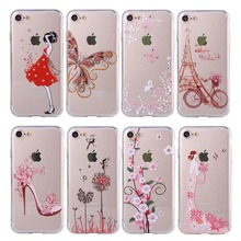 Buy Luxury Bling Diamond Butterfly Flower Girl Clear Soft TPU Case iphone 6 6S Plus 7 Plus 5 5S Phone Cases Crystal Cover Coque for $2.17 in AliExpress store