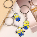 1 pcs Free shipping Despicable Me Key Chain Cartoon Minions Keychain Key Ring Chaveiro best gift