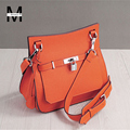 2016 New fashion lady litchi bucket leather bags handbags women famous brands designer handbags casual cross