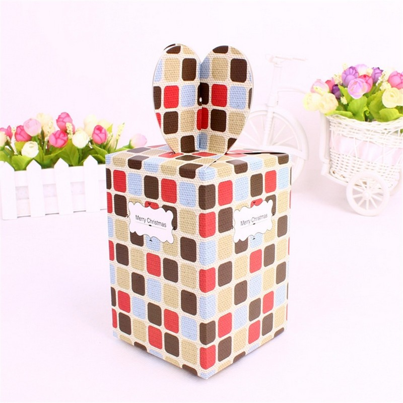 4 Style Candy Box Paper Cake Cookies Container Food Packaging Christmas Fruit Baby Shower Party Gift 9*9*12cm(China (Mainland))