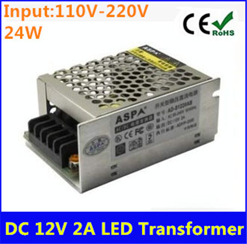 LED High Capacity 12V 2A 24W Switching Power Supply Driver Constant Voltage LED Transformer Driver for