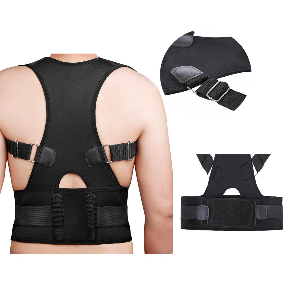 New Posture Corrector Men Women Fully Adjustable Back Shoulder Belt Brace Back Pain Support For Health Care(China (Mainland))