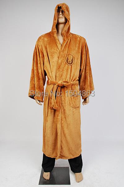 Звездные войны рыцарь-джедай халат делюкс банный халат косплей костюм коричневый ...