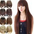 1pcs Synthetic Hair False Straight Bangs False Hair Styling Tools Fake Short Fringe Bang Front Clip