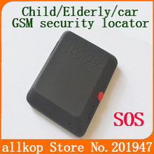 Child / Elderly / car security locator X009 car Alarm Systems GSM Security Recorder with SOS real-time GPS location and historic(China (Mainland))