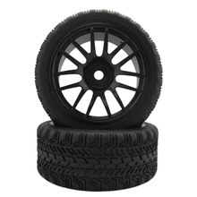 Buy 4PCS Rc Wheels Hub 110 Hex 12mm Rim & Rubber HSP 1/10 On-Road Flat Racing RC Car High for $10.96 in AliExpress store
