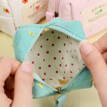 3Colors Women Girls Cute Fashion rural wind floral canvas Coin Bag handbag Pouch Purse Wallet Kawaii