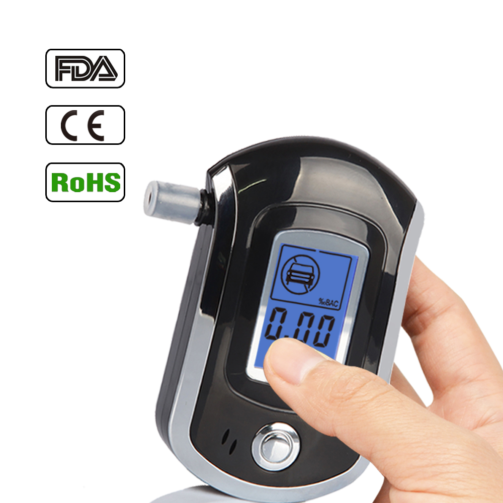 2014 Hot Sale New Digital LCD Alcohol Breath Analyzer Detector Tester Breathalyzer Breathalyser Free Shopping & Wholesales(China (Mainland))