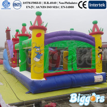 FREE shipping by sea Wonderful Inflatable Trampoline Inflatable  Bounce House With Donald And Mickey Mouse For Kid(China (Mainland))