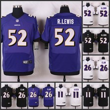 HOT Elite men Baltimore Ravens 52 Ray Lewis 26 Matt Elam 11 Kamar Aiken 5 Joe Flacco D-4(China (Mainland))