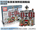 City Street Creator Fire Brigade Lepin 15004 Model Doll House Building Kits Minifigure Blocks Compatible With